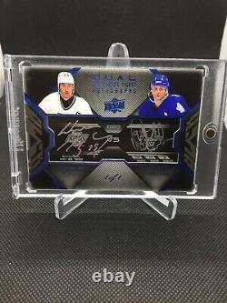2008-09 Upper Deck Black Game Ticket Wayne Gretzky / Doug Gilmour Dual Auto 1/1
