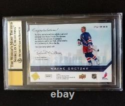 2008 Upper Deck Spring Expo Priority Signings WAYNE GRETZKY Auto 3/9 BGS 9.5 10