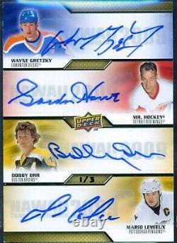 2009 Upper Deck Hawaii Trade Conference Autograph Howe Orr Lemieux Gretzky 1/3