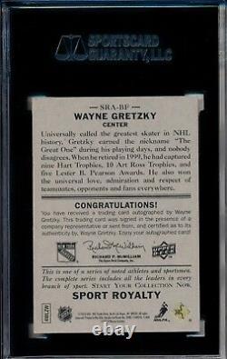 2010 Sport Royalty Autograph Upper Deck Goudey SGC 80 Auto Wayne Gretzky SRA-BF