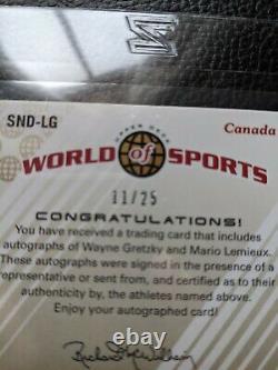 2010 Upper Deck Wayne Gretzky Mario Lemieux Dual Autograph Auto Hof 11/25