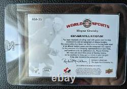 2010 Upper Deck #asa-35 Wayne Gretzky Autograph Auto Game Jersey Card Hof #10/25