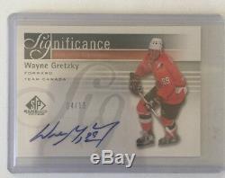 2011-12 SP Wayne Gretzky Auto /15 Significance Team Canada Upper Deck 11/12 SP