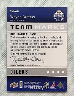 2011-12 Upper Deck SPGU TEAM MARKS Wayne Gretzky I 13/25 AUTO Oilers