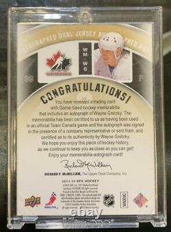 2011-12 Upper Deck SPx Winning Materials Wayne Gretzky Patch Auto #03/15