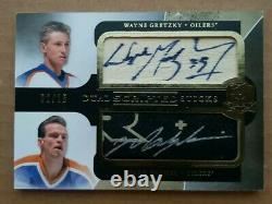2011/12 Upper UD Cup Hockey Dual Scripted Sticks Messier Wayne Gretzky /15 Auto
