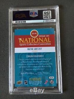 2011 Upper Deck National Redemption Wayne Gretzky AUTO PSA 10 /9 POP 1! RARE