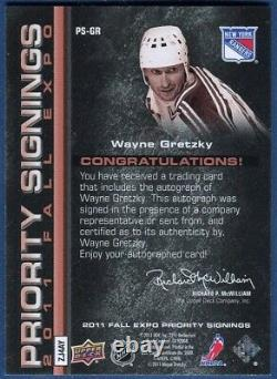2011 Upper Deck Wayne Gretzky #7/9 Priority Signings Auto Signed Rare