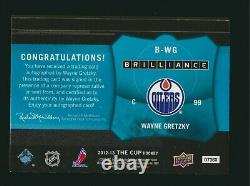 2012-13 Upper Deck The Cup Brilliance Autograph Auto Wayne Gretzky Oilers
