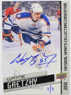 2012 Upper Deck National Sports Card Convention Wayne Gretzky 1/1 Auto Exclusive