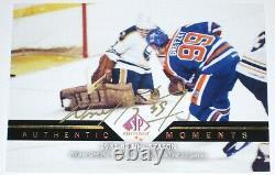 2013-14 Upper Deck Sp Authentic Moments Wayne Gretzky Autograph Sp Auto Card