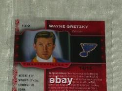 2014-15 Upper Deck Masterpieces Red Frame #150 Wayne Gretzky Jersey Card 14/15
