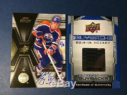 2014-15 Upper Deck SPX Buyback Wayne Gretzky Signed Autographed SP 2/5