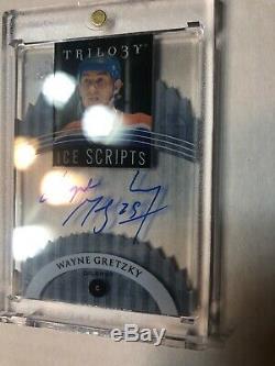 2014-15 Upper Deck Trilogy Ice Scripts Wayne Gretzky Auto Acetate