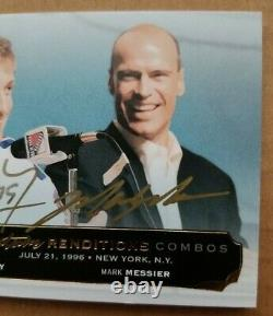 2014/15 Upper UD Cup Hockey Signature Renditions Combos Gretzky Messier Auto