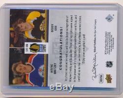 2014 Upper Deck Wayne Gretzky Bobby Orr #LV2-OG Dual Auto Autograph /10