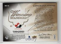 2014 Upper Deck Winning Standard Quad Jersey Autograph Auto Sidney Crosby Rare