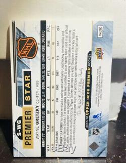 2015-16 Upper Deck Premier 3/clr Patch Auto Wayne Gretzky Super Rare 24/25