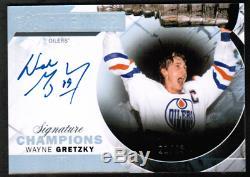 2015-16 Upper Deck Premier Signature Champions #SCWG Wayne Gretzky Auto #/49