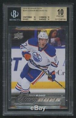 2015-16 Upper Deck Young Guns #201 Connor Mcdavid Rookie Card Rc Bgs 10