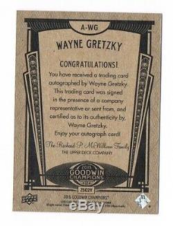 2015 Upper Deck UD Goodwin Champions Autograph Auto #A-WG Wayne Gretzky