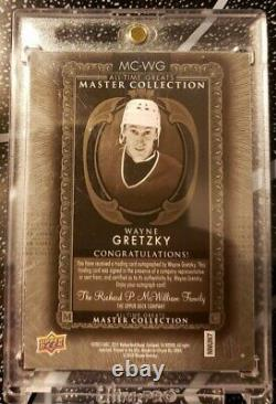 2015 Wayne Gretzky Upper Deck Master Collection Auto /20 All Time Greats UD