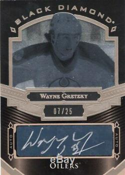 2016-17 Upper Deck Black Diamond Wayne Gretzky Auto 7/25