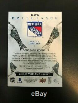 2016-17 Upper Deck The Cup Wayne Gretzky Brilliance Auto