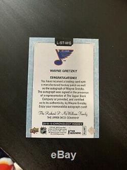 2018-19 Upper Deck Chronology Letterman Auto Wayne Gretzky 07/10