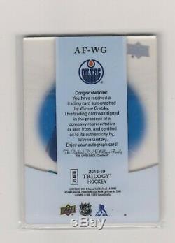 2018-19 Upper Deck Trilogy Auto Focus Autograph # Af Wg Wayne Gretzky Rare