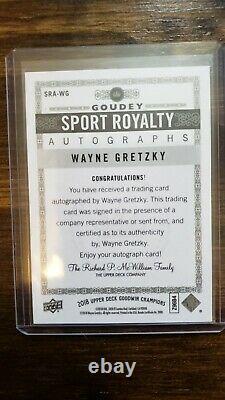 2018 Upper Deck Goodwin Champions Sports Royalty Wayne Gretzky Auto Rare