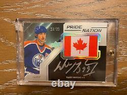 2019-20 Upper Deck Blck Pride Of A Nation Wayne Gretzky Silver Autograph #23/25