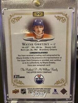 2019/20 Upper Deck Stature Wayne Gretzky Red Auto /10