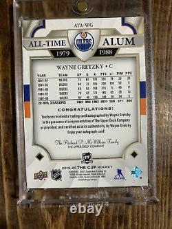 2019-20 Upper Deck The Cup WAYNE GRETZKY All-Time Alum Auto # /25 Oilers