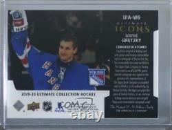 2019-20 Upper Deck Ultimate Collection Icons Jersey /35 Wayne Gretzky Auto HOF