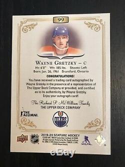 2019-20 Wayne Gretzky Upper Deck Stature Green Auto! /25! Beauty