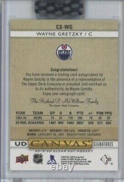 2020 Upper Deck Canvas Wayne Gretzky AUTO /99 NHL Oilers GOAT! Cool Card