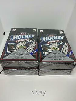 (4) 1990-91 Upper Deck Hockey Low Series Wax Boxes Factory Sealed