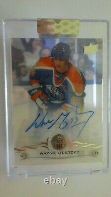 Gretzky 2018-19 UD Clear Cut Autograph UD Acetate Sealed Upper Deck Signed Auto