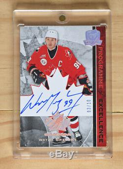 Upper Deck The Cup Programme Of Excellence Canada Gretzky Auto /10 Non Patch