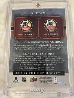 Upper Deck The Cup Signature Remditions Gretzky/Messier 5/15 dual gold auto wow