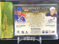 Upper Deck UD Prominant Cuts Connor McDavid / Wayne Gretzky Auto # /5 BGS 9.5 10