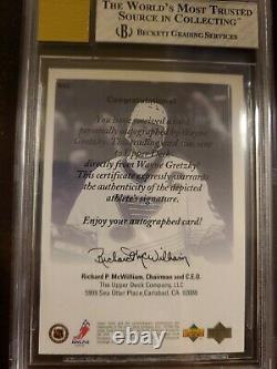 Upper Deck Ud Authentics Wayne Gretzky Exclusives Signed Bgs 8 Auto 10 Bvg Psa