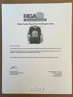Upper Deck Wayne Gretzky autographed New York Ranger Liberty road jersey