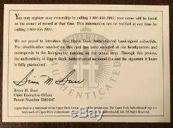 WAYNE GRETZKY AUTO 1992/93 UPPER DECK HOCKEY HEROES CHECKLIST AUTOGRAPH #ed MINT