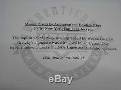 WAYNE GRETZKY NY Rangers Autographed Jersey Framed with Photos Upper Deck CoA
