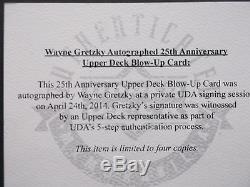 WAYNE GRETZKY UDA FRAMED 25X31 SIGNED UPPER DECK COA RARE ONLY 1 of 4