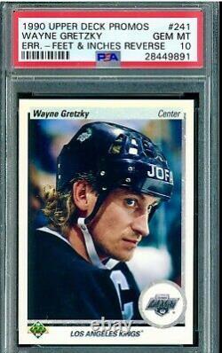 Wayne Gretzky 1990 Upper Deck Promo #241 LA Kings Error Card PSA 10 GEM MINT