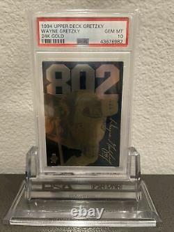 Wayne Gretzky 1994 Upper Deck 802 Goals LA Kings 24K Gold PSA 10 #/3500 POP 14