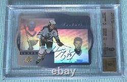 Wayne Gretzky 1996-1997 Upper Deck UD SPX Tribute Signature Autograph AUTO BGS 9